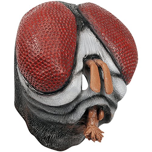 Star Power Insect House Fly Full Head Mask, Black Red, One Size for $<!--$27.99-->