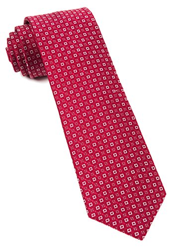 - The Tie Bar 100% Woven Silk United Medallions Red 3 Inch Tie