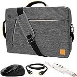 "VanGoddy Gray Slate 3-in-1 Hybrid Laptop Bag w/ 3PC Accessory Bundle for ASUS Transformer Series / ChromeBook / VivoBook / ZenBook / 10""-12inch"