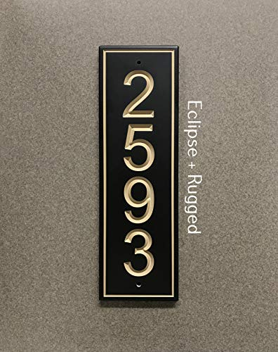 Vertical Classic Address Sign