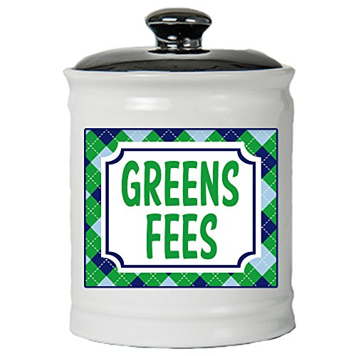 (Tumbleweed Green Fees Money Jar With Lid- Gifts For Golfers - Golf Gifts For Men)