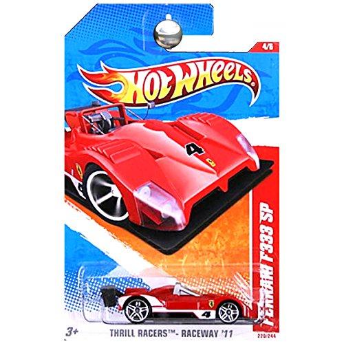 ot Wheels Ferrari F333 SP, 4/6, Thrill Racers - Raceway, Color Red/White, 220/244, 1:64 Scale Card - Sp Ot