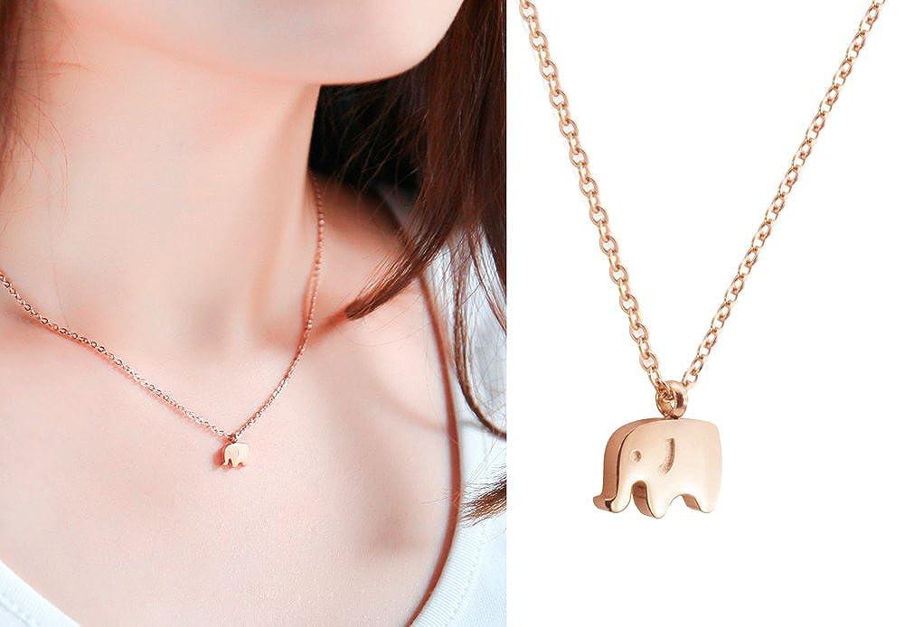 WDSHOW Elephant Pendant Necklaces Minimalist Jewelry 16.5+2 inch TPL160404 TPL160404s