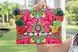 Changnoi Bohemian Ipad Holder Handmade Hill Tribe Embroidered Pom Pom Fair Trade Thailand