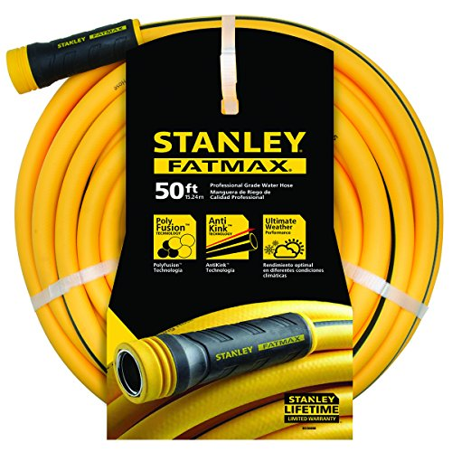 """Stanley Fatmax Professional Grade Water Hose, 50' x 5/8"""", Yellow 500 PSI by Stanley"""