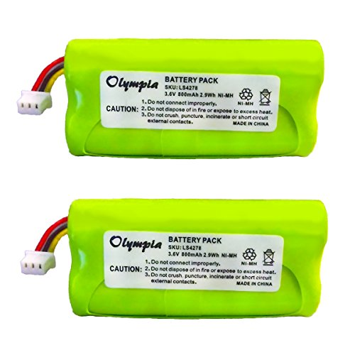 2 Pack of Motorola Symbol 82-67705-01 Battery - Replacement for Motorola Symbol LS4278 Barcode Scanner Battery (800mAh, 3.6V, NI-MH)