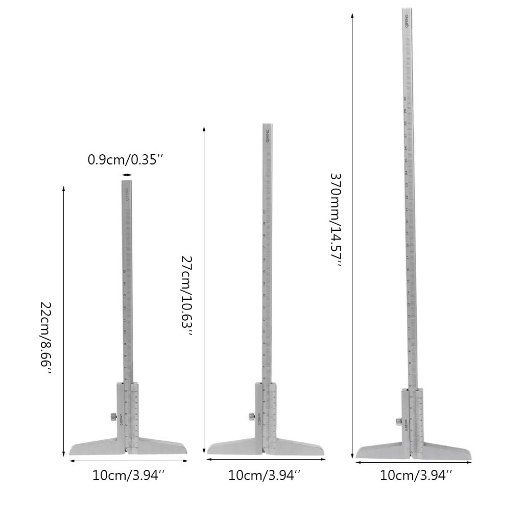 Meatyhjk 0-150 mm, 200 mm, 300 mm de profundidad, 0,02 mm 300mm Calibre Vernier