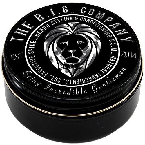 Beard Balm for Men - Medium Hold Beard Wax for Styling - Non Greasy - Deep Beard Conditioner - Promotes Beard Growth and Shine - Stop Beard Itch and Flakes - Get Beard Hacks Bible