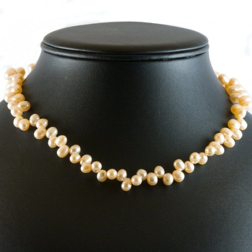 edd912ebda5b Collar de perlas de cultivo de agua dulce