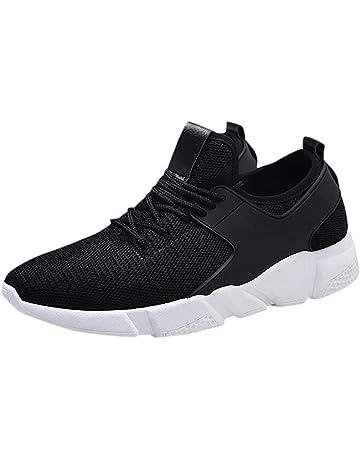 Zapatillas de Deporte Tejidas Casuales de los Hombres Tendencia Transpirable Versátil Zapatos para Correr
