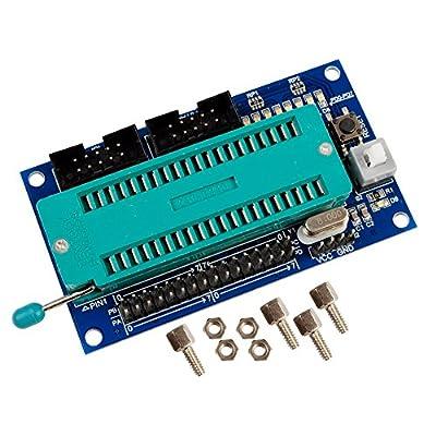Icstation AVR ATmega16 ATmega32 Programmer Adapter Socket DIP 40 pin with ISP JTAG port