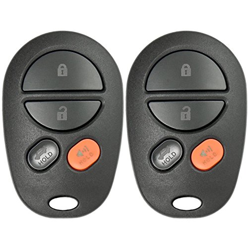Keyless2Go New Keyless Entry Remote Car Key Fob 4 Button Replacement for FCC GQ43VT20T (2 Pack) ()