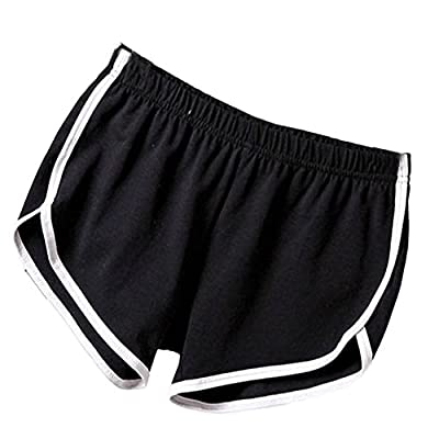 Soly Tech Women Summer Sports Shorts Gym Workout Waistband Skinny Shorts Pants at Women's Clothing store