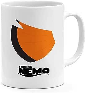 كوب قهوة بتصميم فني من نيمو تيل سعة 325.3 مل بتصميم Finding Nemo مج حديث من السيراميك