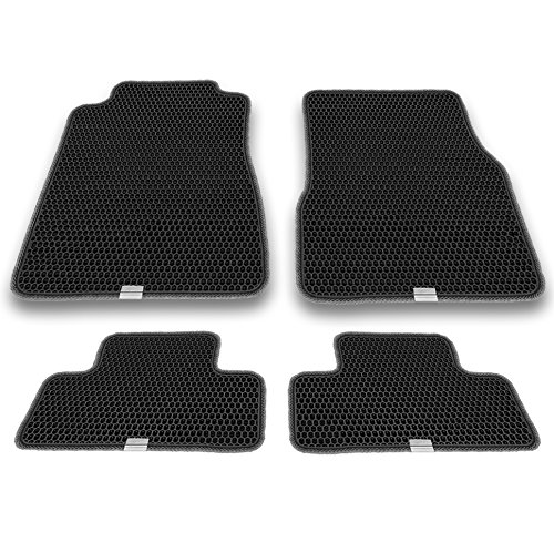 Honeycomb Mustang - Motliner Floor Mats, Custom Fit with Dual Layered Honeycomb Design for Ford Mustang 2005-2014. All Weather Heavy Duty Protection for Front and Rear. EVA Material, Easy to Clean.