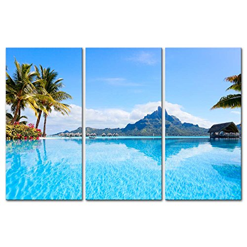 3-Pieces-Modern-Canvas-Painting-Wall-Art-The-Picture-For-Home-Decoration-Beautiful-Otemanu-Mountain-On-Bora-Bora-Island-Beach-With-Palm-Tree-Seascape-Tree-Print-On-Canvas-Giclee-Artwork-For-Wall-Decor