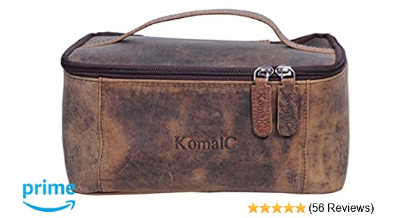 6c6c67e88929 Amazon.com  KomalC Genuine Unisex Vanity Leather Dopp kit - Travel Toiletry  Bag Shaving Kit  Komal s Passion Leather
