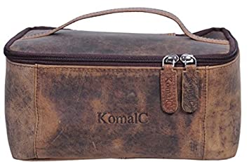 0414e0a89453 Image Unavailable. Image not available for. Color  KomalC Genuine Unisex  Vanity Leather Dopp kit - Travel Toiletry Bag Shaving Kit