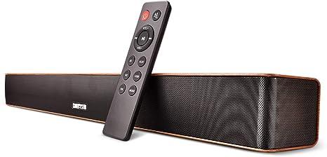 Barras de sonido para TV Barra de sonido Bluetooth Cableado e inalámbrico Altavoz de audio Bluetooth Sonido envolvente subwoofer inalámbrico para Incluye cable óptico y control remoto(Grano de madera): Amazon.es: Electrónica