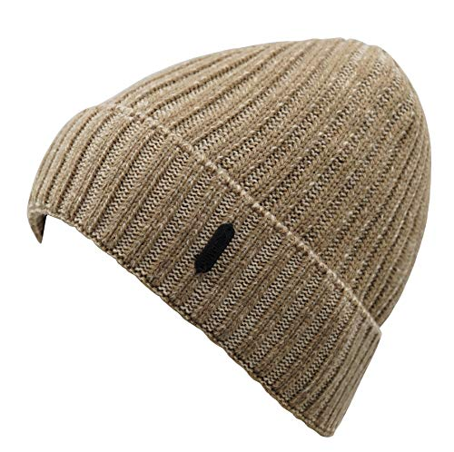 Beanie Cuff (Connectyle Classic Men's Warm Winter Hats Thick Knit Cuff Beanie Cap with Lining (Khaki) ,Large)