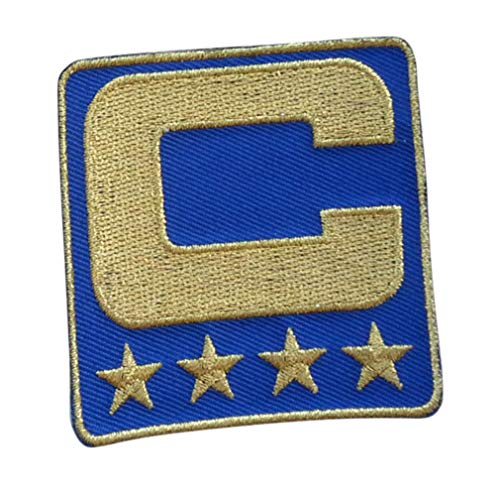 Royal Blue All Gold Captain C Patch Iron On for Football Jersey -