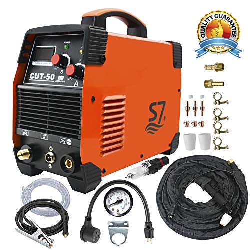 Plasma Cutter, 50A Inverter AC-DC IGBT Dual Voltage (110/220V) Cut50 Professional Fashion Luxury Portable Welding Machine With Intelligent Digital Display Free Accessories by S7 (Image #5)