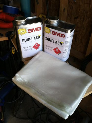 SMD SunFlash UV Activated Polyester Resin (1 Gallon) (4, 32oz Qt. Cans)