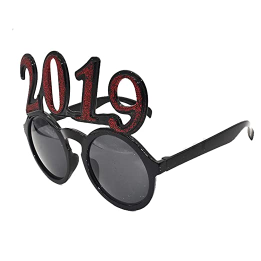 51064ce076 Funny Crazy Fancy Dress Glasses Novelty Frame Round Party Sunglasses  Accessories (Red -C)