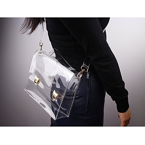 Stadium NFL Transparent Bag Clear Approved Handbag PVC Body Cross Bag Women's Shoulder Clear Satchel Messenger px7awg