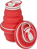 HYDAWAY Collapsible Pocket-sized Travel Water Bottle - 21 oz - Fire