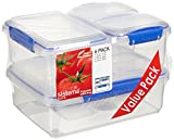 Sistema KLIP IT Food Storage Containers, Blue Clips, Pack of 6