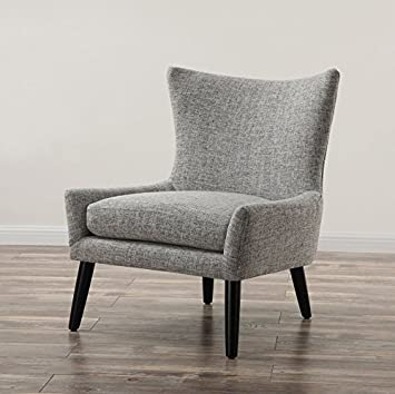 TOV Furniture The Sullivan Collection Contemporary Style Linen Upholstery Living Room Chair Grey