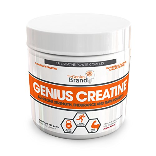 Genius Creatine Powder, Post Workout Supplement For Men and Women with Creapure Monohydrate, Hydrochloride (HCL) MagnaPower and Carnosyn Beta-Alanine SR, Natural Lean Muscle Builder – Sour Apple, 188G (Post Workout Stack)