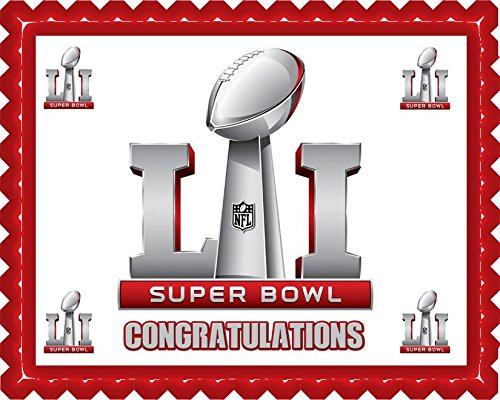 Super Bowl Edible Cake Topper & Cupcake Toppers - 7.5