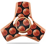 MightySkins Vinyl Decal Skin For Apsung Fidget Tri-Spinner – Basketball | Protective Sticker Wrap For Your Metal Fidget Toy | Easy To Apply Cover