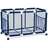 Rolling Pool Toy Storage Cart Bin 42 Inch Width x 26 Inch Height -  Easier Height For Kids Reach