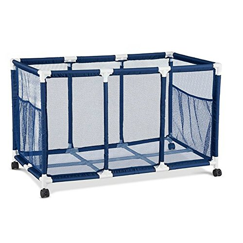 Rolling Pool Toy Storage Cart Bin 42 Inch Width x 26 Inch Height -  Easier Height For Kids - Pool Caddy