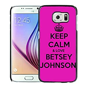 Unique And Fashionable Designed Cover Case For amsung Galaxy S6 With Betsey Johnson 21 Black Phone Case