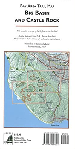 Big Basin and Castle Rock : Bay Area trail map: Redwood Hikes Press ...