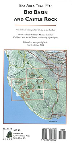 Big Basin and Castle Rock : Bay Area trail - Castle Outlet Rock Map