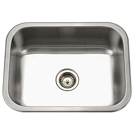 Houzer es 2408 1 elite series undermount stainless steel single bowl houzer es 2408 1 elite series undermount stainless steel single bowl kitchen sink workwithnaturefo