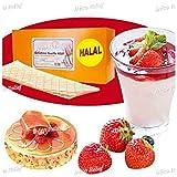 Halal Gelatine Sheets (Halal Certified Bovine Gelatine) (170 Blooms Quality), in a 10 Sheets, Cut into Half (25g)