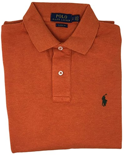 Polo Ralph Lauren Classic Fit Mesh Pony Logo Polo Shirt  Large  Dark Orange