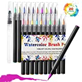 Watercolor Brush Pen, Akaru 20 Colors Calligraphy Brush Markers, Flexible Tip Paint Pens
