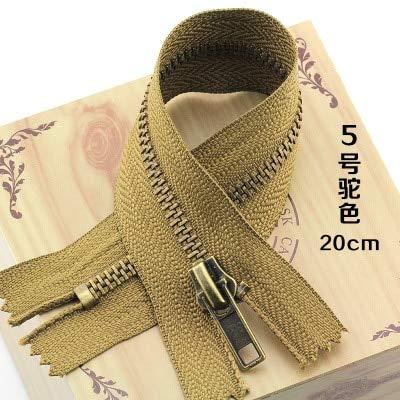 Maslin 10pcs/lot 5# 20cm Metal Zipper The Front of Pants Zipper Pocket Zipper Bag Zipper Leg Zipper Many Colors - (Color: Camel Color, Size: 3#, Length: - Front Camel Pocket