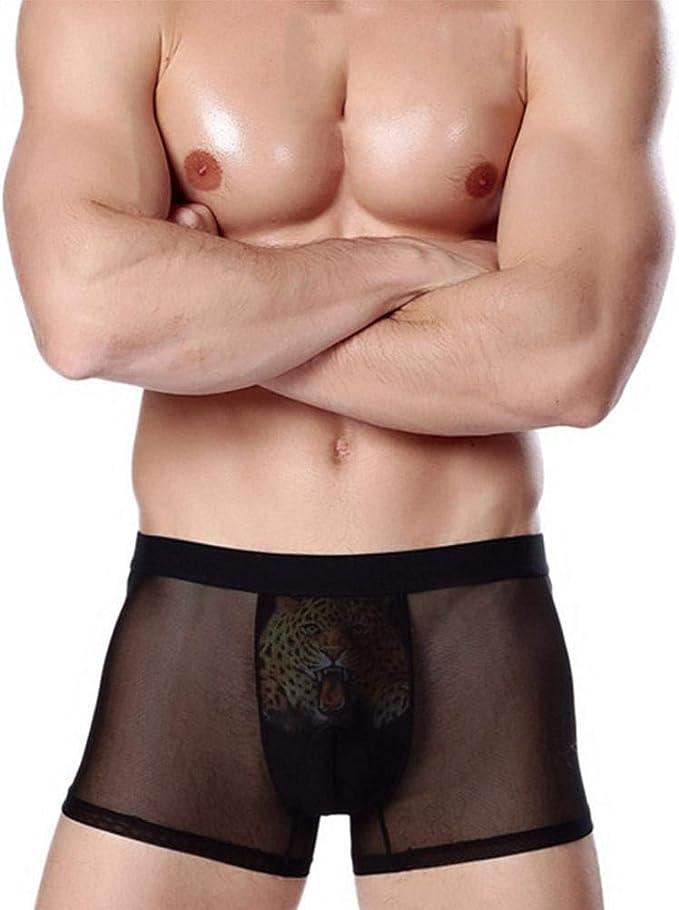 Saoye Fashion Algodón Boxer Calzoncillos Sport para Debajo Hombres ...