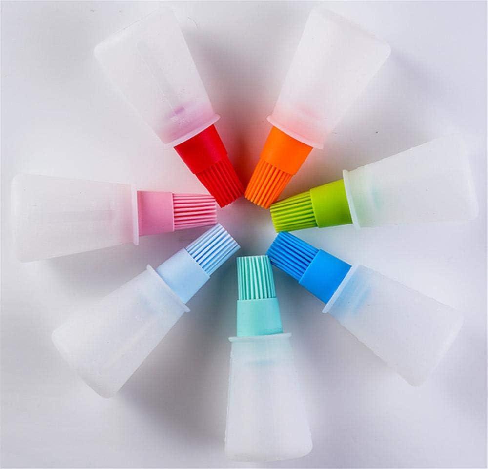 r/ésistant /à la Chaleur pour Sauce Huile et p/âtisserie Multicolore DUORUI Lot de 2 brosses /à badigeonner en Silicone avec Flacon