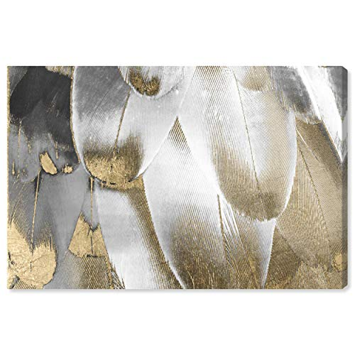 The Oliver Gal Artist Co. Fashion and Glam Wall Art Canvas Prints 'Royal Feathers' Home Décor, 45