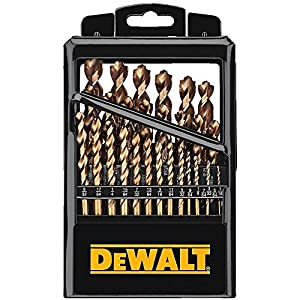 DEWALT DW1269 29-Piece Cobalt Pilot-Point Metal Drill Bit Index Set