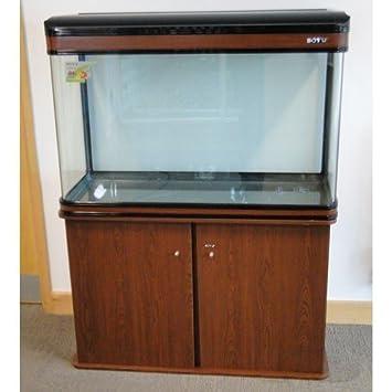 lz-1200 caoba moderno armario Acuario Fish Tank/marina Tropical/agua dulce - 120 cm - 300L con iluminación LED: Amazon.es: Productos para mascotas